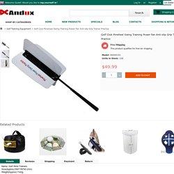 Golf Club Pinwheel Swing Training Power Fan Anti-slip Grip Trainer Practice