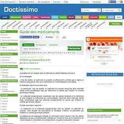 ACTOS - Pioglitazone - Posologie, Effets secondaires, Grossesse