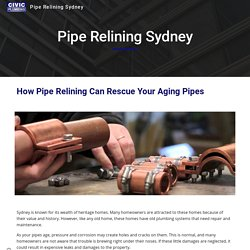 How Pipe Relining Can Rescue Your Aging Pipes