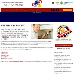 Pipe Repair Toronto – Toronto Plumbing Service