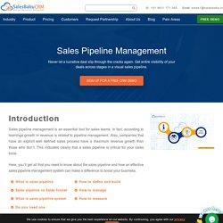 Sales pipeline management : Salesbabu Business Solution Pvt Ltd