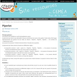 Piperlet - Site Ressources des Ceméa Pays de Loire