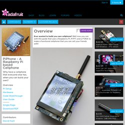 PiPhone - A Raspberry Pi based Cellphone