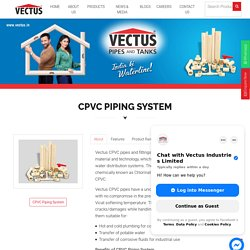 CPVC Pipes & Fittings From Vectus