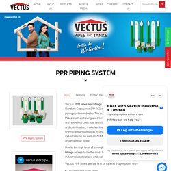 PPR Pipes and Fittings from Vectus
