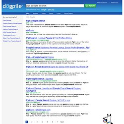 People search engine that tries to be a little different pipl people