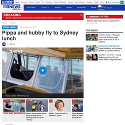 Pippa and hubby fly to Sydney lunch