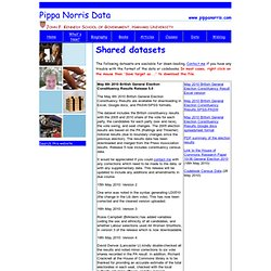Pippa Norris Datasets