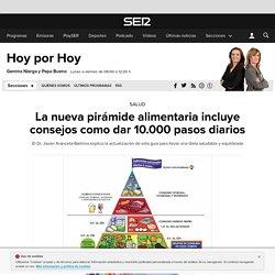 La nueva pirámide alimentaria incluye consejos como dar 10.000 pasos diarios ...