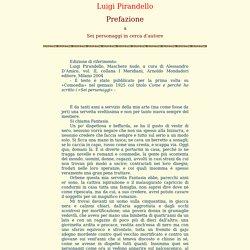 pira19 - Luigi Pirandello - Prefazione a Sei personaggi in cerca d'autore