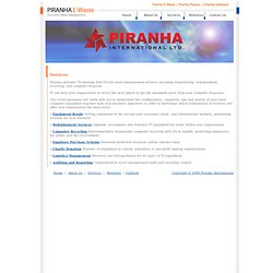 Piranha - E-Waste - Services