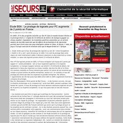 Etude BSA : Le piratage de logiciels pour PC augmente de 2 points en France