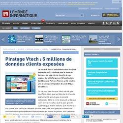 Piratage Vtech : 5 millions de données clients exposées