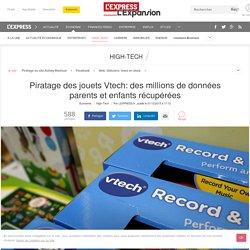 Piratage des jouets Vtech: des millions de données parents et enfants récupérées