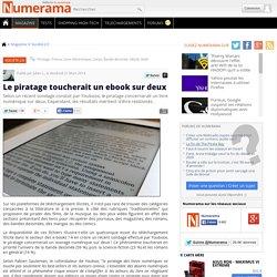 Le piratage toucherait un ebook sur deux