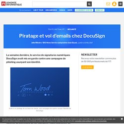 Piratage et vol d'emails chez DocuSign