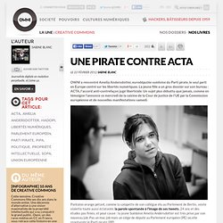 Une pirate contre ACTA