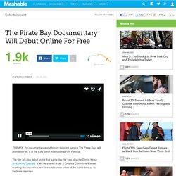 The Pirate Bay Documentary Will Debut Online For Free