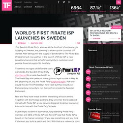 World's First Pirate ISP Launches In Sweden