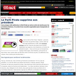 Le Parti Pirate supprime son président