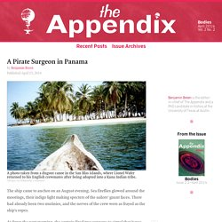 A Pirate Surgeon in Panama—Vol. 2, No. 2—The Appendix