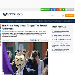 The Pirate Party's Next Target: The French Parliament