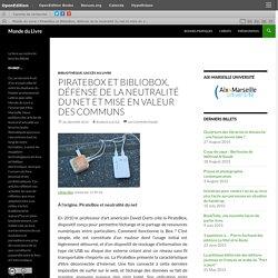 PirateBox et BiblioBox, défense de la neutralité du net et mise en valeur des communs