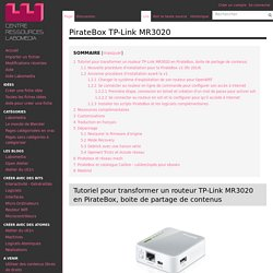 PirateBox TP-Link MR3020