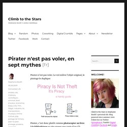 Pirater n'est pas voler, en sept mythes — Climb to the Stars