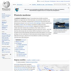 Piraterie moderne