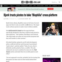 Bjork trusts pirates to take 'Biophilia' cross-platform