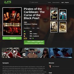 Pirates of the Caribbean: The Curse of the Black Pearl (2003) Download YIFY movie torrent - YTS