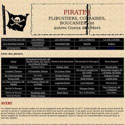 Pirates et flibustiers célèbres