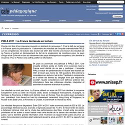 PIRLS 2011 : La France déclassée en lecture