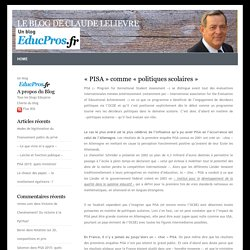 «PISA» comme «politiques scolaires»