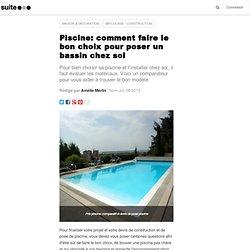 Piscine: comment faire le bon choix pour poser un bassin chez soi