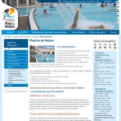 Activit s loisirs f tes redon pearltrees for Piscine redon