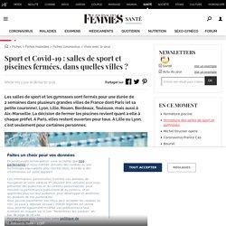 Sport et Covid-19: salles de sport et piscines fermées, dans quelles villes?
