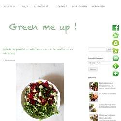 Salade de pissenlit et betteraves crues à la menthe et au tofu-basilic