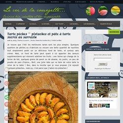 Tarte pêches ~ pistaches et pâte à tarte sucrée au sarrasin