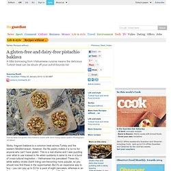 Gluten-and dairy-free pistachio bird's nest baklava