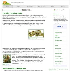 Pistachio nuts nutrition facts and health benefits