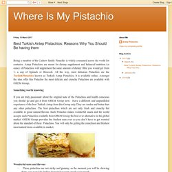 Where Is My Pistachio: Best Turkish Antep Pistachios: Reasons Why You Should Be having them