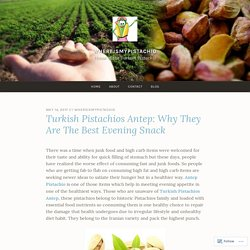 Turkish Pistachios Antep: Why They Are The Best Evening Snack – WhereIsMyPistachio