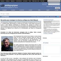 Des pistes pour enseigner le climat au collège avec Alain Mazaud