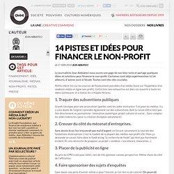 14 pistes et idées pour financer le non-profit » Article » owni.