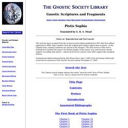 Pistis Sophia Index