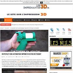 Un pistolet semi-automatique imprimé en 3D par un étudiant