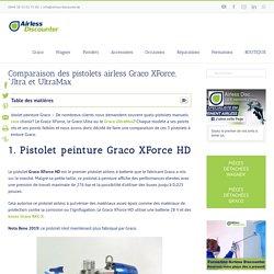 Pistolet peinture graco - comparaison Graco Ultra, UltraMax & XForce