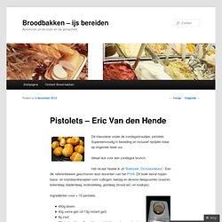 Pistolets – Eric Van den Hende